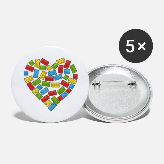 Autism Awareness Buttons - Autism Awareness Heart - Small Buttons white