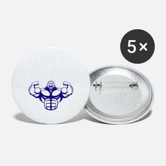 Sports Buttons - Vegan Muscle - Small Buttons white