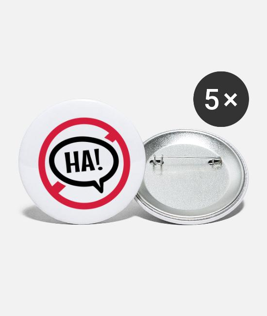 Symbol  Buttons - No joke - Small Buttons white