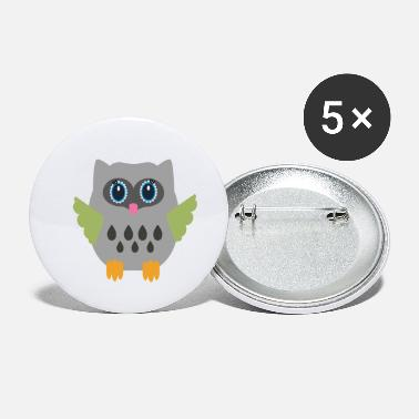 Grey Grey Owl - Small Buttons