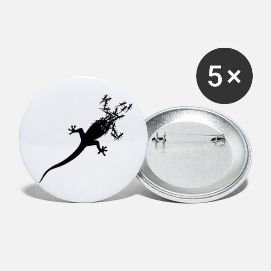 Tropical Buttons - Geckos Gecko from - Small Buttons white