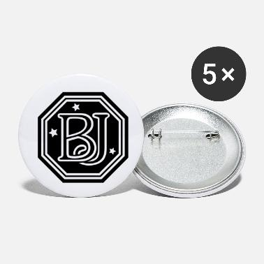 BJ monogram initial letters - Small Buttons