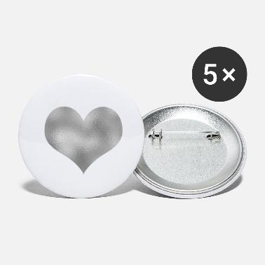 Silver Heart silver - Small Buttons