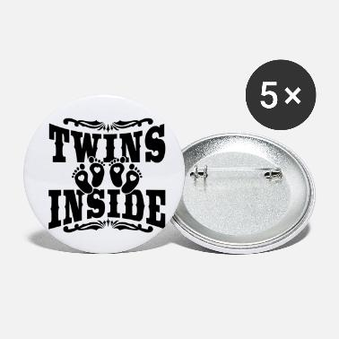 Twins Twins inside - Buttons klein