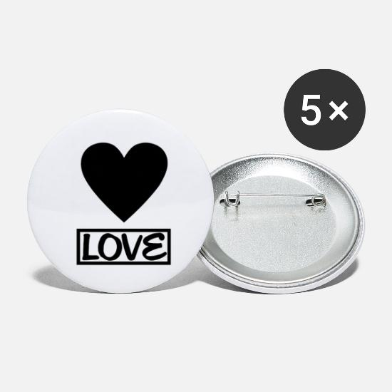 Love Buttons - Love heart - Small Buttons white