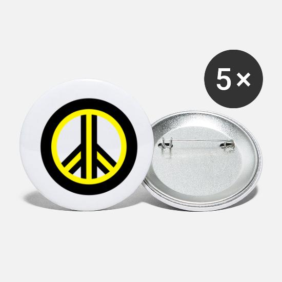 Peace Sign Buttons - Peace - Small Buttons white