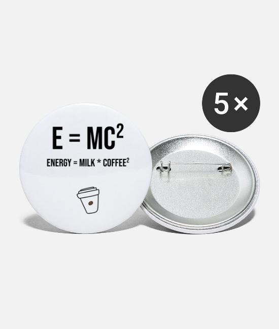 Formula Buttons - e = MC² energy = milk * coffee² - Small Buttons white