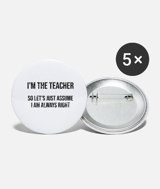Christmas Buttons - I am the teacher - Small Buttons white