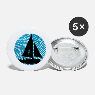 Fingerprint Sailboat fingerprint - Small Buttons