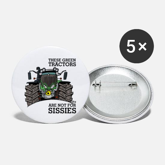 Green Buttons - these green tractors are not for missions - Small Buttons white