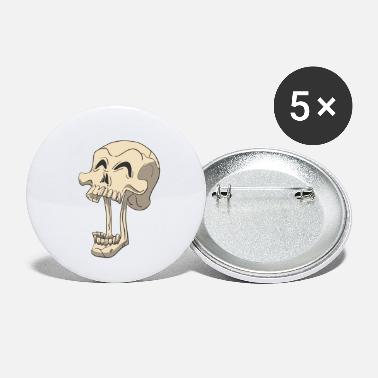 Blood Skull skull skeleton yawning - Small Buttons