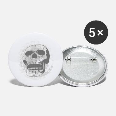 Grey Grey Skull - Small Buttons