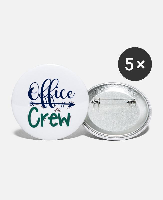 Office Buttons - office crew office team - Small Buttons white