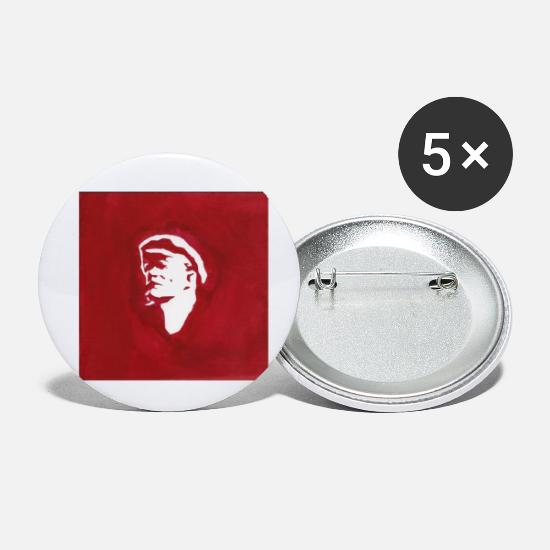 Pensel Buttons & badges - lenin - Små buttons hvid