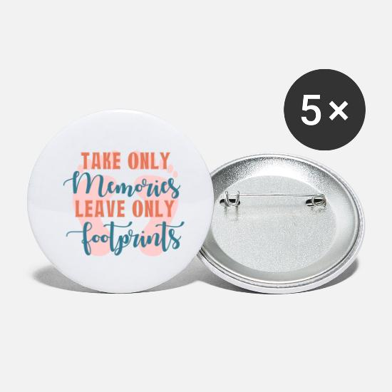 Travel Buttons - Memories- Footprints Gift Idea - Small Buttons white