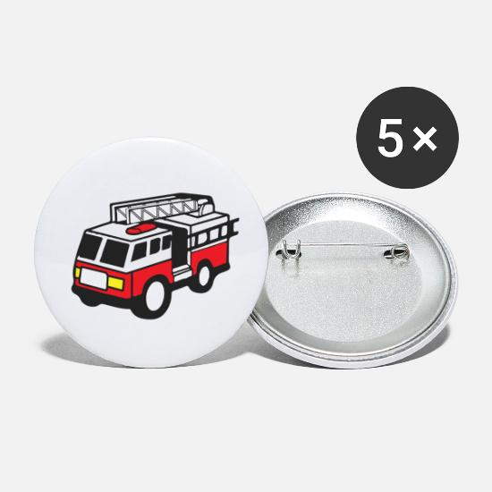Offspring Buttons - Fire Department Firefighter Fire Engine Father's Day - Small Buttons white