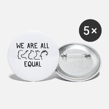 Vegan We are all equal Vegan Geschenk - Buttons klein