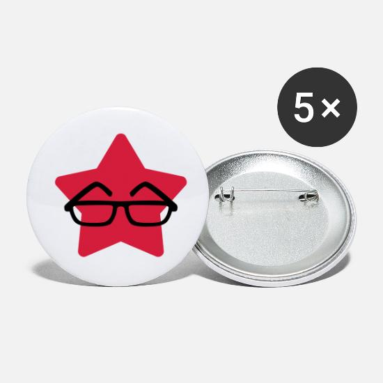 Ophthalmologist Buttons - Optician Optiker Opticien Glasses Eyes Lunettes - Small Buttons white