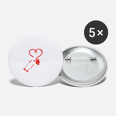 Surgeon Doctor Stethoscope Heart Love Funny Gift Idea - Small Buttons