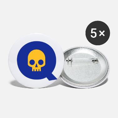 Q ☠♥Awesome Skull Alphabet Initial Letter-Q♥☠ - Small Buttons
