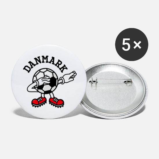 Dab Buttons - Denmark Danmark dab dabbing soccer football - Small Buttons white