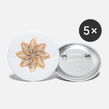 Mantra Mandala - orange - Petits badges