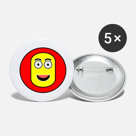 Eye Buttons - Mr Crazy Face - Small Buttons white