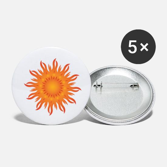 Generation Buttons - Sun Sunbeams Gift Flower Power PopArt - Small Buttons white