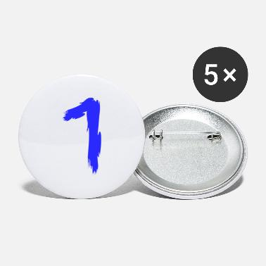 Lucky Number Number favorite number lucky number 1 one - Small Buttons