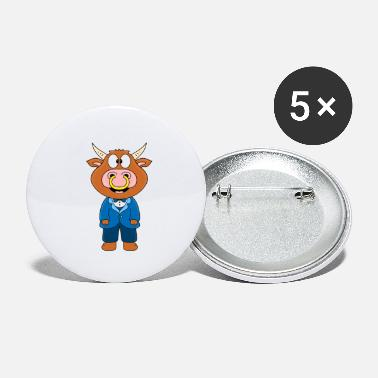 Bride Bull - cow - bull - cattle - groom - wedding - Small Buttons