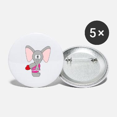 Marriage Funny elephant - elephant - heart - love - Small Buttons