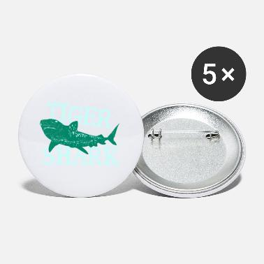 Brother Fish Tiger Shark Danger Diver Gift - Small Buttons