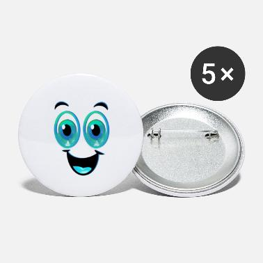 Watery Eye Happy Face With Watery Eyes - Small Buttons