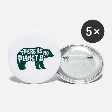 Planet There is no planet B Vegan Food Natural Gift - Small Buttons