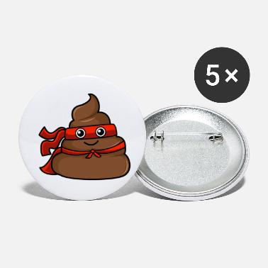 Superhero poop - Small Buttons
