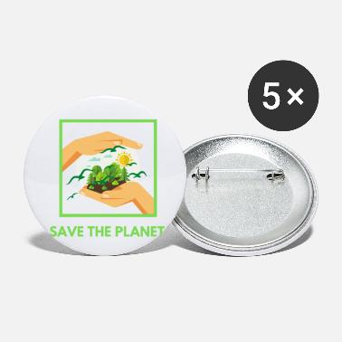 Umwelt Save The Planet! - Buttons klein