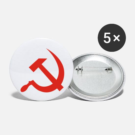 Castro Buttons & badges - Hammer & Sickle - Små buttons hvid