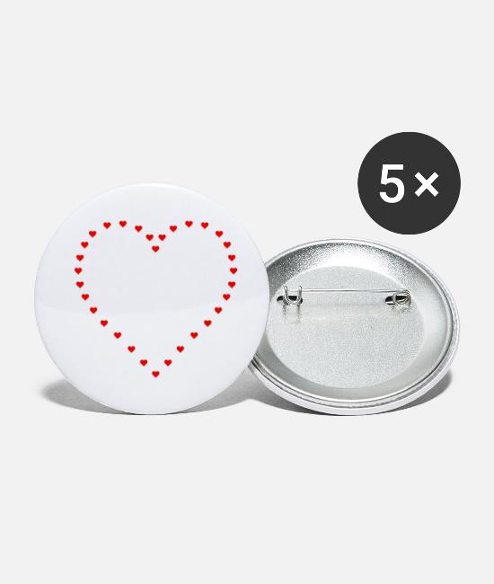 Heart Buttons - Heart of hearts - Small Buttons white