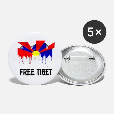 St23 free tibet t-shirt - Small Buttons