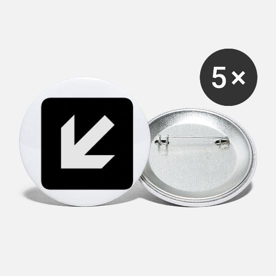 Arrow Buttons - Left and down arrow - Small Buttons white