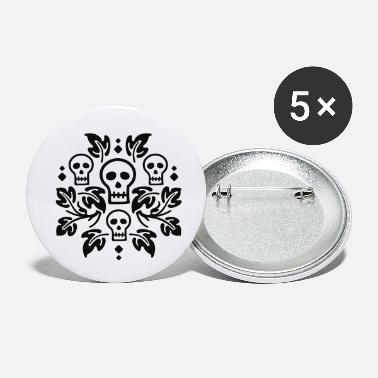 Day of the Dead kranium - Små buttons