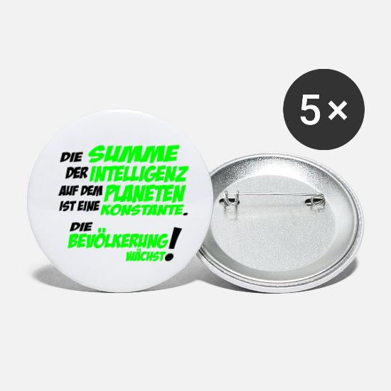 Provocation Buttons - Sum of the intelligence on the planet - Small Buttons white