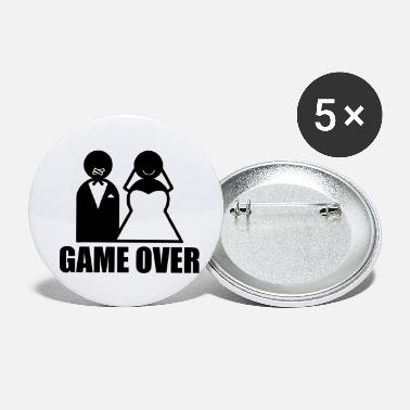 Mariage Game Over weeding mariage humour - Petits badges