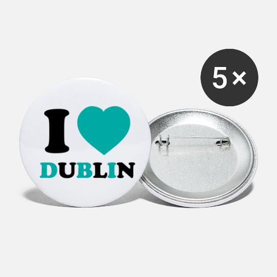Flag Buttons - I love Dublin - Small Buttons white
