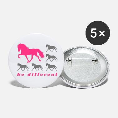 Be Different grey - Buttons klein