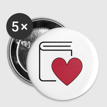 Book Love - Buttons klein 25 mm
