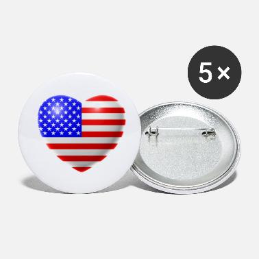 Usa Heart (USA / USA) - Small Buttons