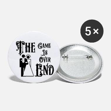 Just Married The Game is Over The End - Small Buttons