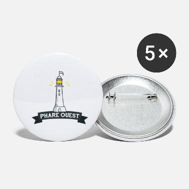 Bretagne Phare West - Buttons klein