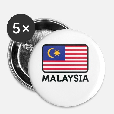 Borneo National Flag Of Malaysia - Buttons small 25 mm